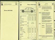 Simca 1307 1308  DAT Unterlagen Ersatzteile Ausstattung Preisliste 1980