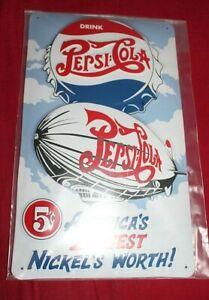 Blechschild Pepsi Cola ca. 30 cm x ca. 18 cm NEU und OVP