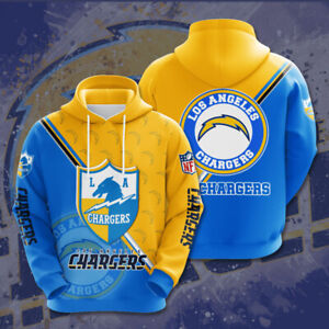 Los Angeles Chargers Hoodie Pullover Hooded Sweatshirt Fan Sportwear Jacket Gift