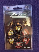 Hot Picks - Guitar Picks - ZZ Top x6 designed picks  - ZZ-1 - Packed
