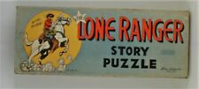 VINTAGE 1950's LONE RANGER STORY comic strip book 4 PUZZLE set in BOX Western
