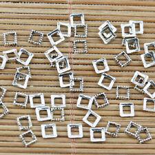 600pcs tibetan silver color carré en forme de espaceur cadre charms EF2321