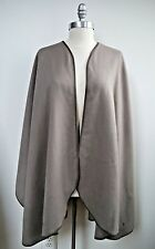 NEW LORO PIANA $2,495 Regina 100% cashmere leather trim large cape shawl wrap
