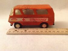 "Tonka Toy Orange Emergency Ambulance Van 4 1/2"" long"