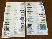 Wholesale Lot of 36 1960s US First Day Cover FDCs - Addressed/Cacheted