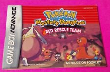 Pokemon Mystery Dungeon Red Game Boy Advance Instruction MANUAL ONLY -No Game