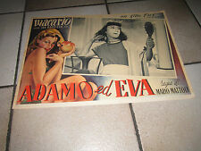 ADAMO ED EVA MACARIO ISA BARZIZZA MATTOLI FOTOBUSTA 1949