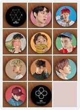 11pics PINS SET EXO BADGE EXACT EX'ACT LUCKY ONE CHAN YEOL BAEK HYUN DO KAI LAY