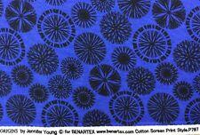 Benatex - Origins By Jennifer Young P797 Royal Blue - 100% Cotton Fabric