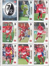 12x  SC Freiburg komplett TOPPS BUNDESLIGA CHROME 2013 /2014  ALLE NEU