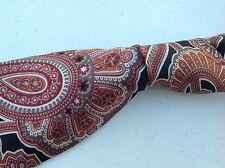 Awesome Christian Dior Monsieur Men's Neck Tie Black/Reddish Paisley  Silk B78