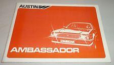 Instrucciones Servicio Owner's Manual Austin Embajador, Stand 1982