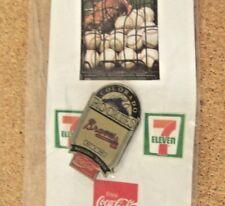 1993 Colorado Rockies 7-11 Coca-Cola pin #3,  Atlanta Braves