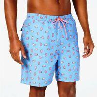 "Club Room Mens Quick-Dry 7"" Beach Swim Shorts Trunks Blue Combo Size L XL"