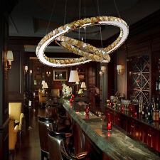 2 Ring Warm Kristall LED Deckenlampe 48W Hängelampe Pendelleuchte Kronleuchter