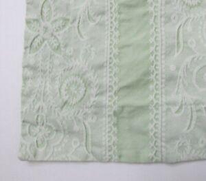 Martha Stewart Pillow Sham Cover 24 x 26 Green White Inch Cotton