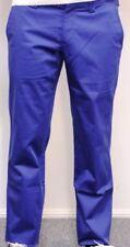 Cotton Blend Regular Size Dress-Flat Front Pants for Men