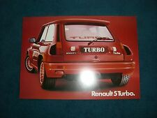 Prospekt Brochure Prospektblatt Renault 5 Turbo Backenturbo 118 kw