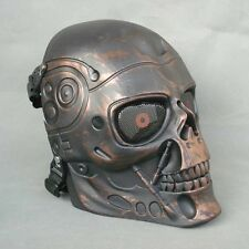 Full Face Protection Paintball T800 Skull Mask Props Halloween Bronze Color JD21