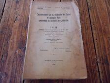 RARE - CONSIDERATIONS SUR LA RECHERCHE DE L' INDOL BIOLOGIE COLIBACILLE 1934