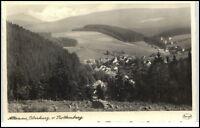 ALTENAU Oberharz alte s/w Postkarte AK um 1950 Panorama Blick auf den Ort