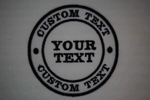 CUSTOM Embroidered ROUND Patch - Iron or sew on - CHOICE OF COLOUR *FREE POST*