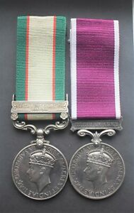 Named India General Service Medal 1936 & NWF 1937-39 clasp + Long Service medal