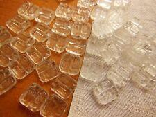 lot 20 cabochons anciens verre transparent mini relief création bijoux 0,9 cm