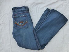WOMENS CALIFORNIA VINTAGE LOW RISE JANE BOOTCUT JEANS PATCHES SIZE 27x31 #W3047