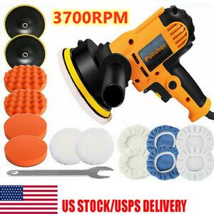 """600W Car Polisher Buffer Polishing Machine Kit Waxing Tool 5"""" Buffing Pad Bonnet"""