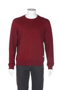 FRANK & OAK Men's Sweatshirt Medium Red Pullover Crewneck Sweater Athletic Fit