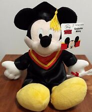 "NEW Disney Graduation MICKEY MOUSE Plush Stuffed Animal Toy 14"""