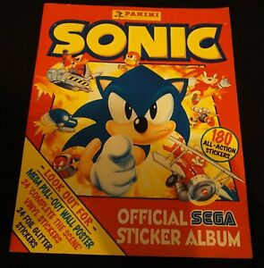 Vintage Sonic The Hedgehog Official Sega Sticker Album by Panini Near Complete