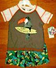 Boys Skechers UPF 50 Swim Suit 2 Pieces Set Shorts T-Shirt Toucan New SZ 3T