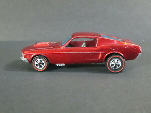 Hot Wheels Redline Custom Mustang 1968 VGC all Original
