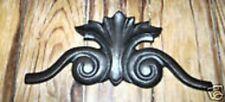pediment  abs plastic mold decor accent mould