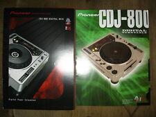 Pioneer CDJ-800 Digital Deck brochures