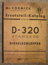 MC Cormick Schlepper D320 Ersatzteilkatalog (1961)