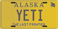 Bigfoot YETI Sasquatch metal Alaska License Plate