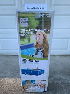 **BRAND NEW** Intex 8.5ft x 26in Rectangular Frame Swimming Pool ⭐FREE SHIPPING⭐