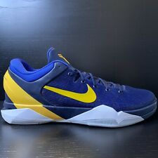 Nike Zoom Kobe VII 7 System Obsidian Blue Yellow 488371-404 Size 17 Rare Limited