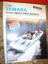 1989-1991 YAMAHA STERN DRIVE CLYMER SHOP MANUAL SERVICE REPAIR 1990