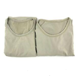 2 Military Gen III Power Dry Undershirt ECWCS Silk Weight Base Layer Shirt Top