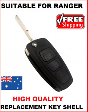 1 x 2B-REMOTE FLIP KEY BLANK SHELL Suitable for Ford Ranger PX1 MAZDA BT50