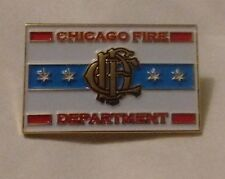 Chicago Fire Department Flag CFD Logo  Lapel Tie Pin