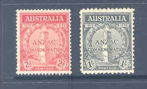 AUSTRALIA PREDECIMAL 1935 ANZAC SET VERY FINE MINT AND FRESH...............6