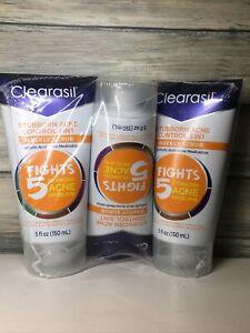 3X  Clearasil Stubborn Acne Control 5 in1 Weekly Scrub