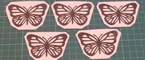 5 x Vinyl Decal Butterflies Crafts Scrapbooking Car Wine bottle Window Sticker