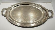 Antique Oneida Large Oval SilverPlate Butlers Serving Platter Tray 24x15 ORNATE