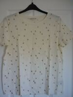 BODEN MAKE A STATEMENT TEE IVORY WOBBLY SPOT UK 20-22, EUR 46-50, US 16-18. BNWT